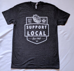Support Local Flagship - Heather Charcoal T-Shirt