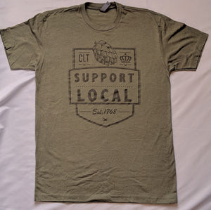 Support Local Flagship - Military Green T-Shirt