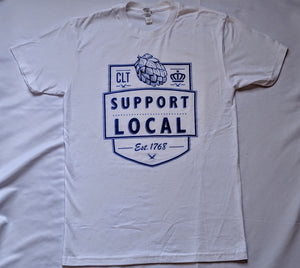 Support Local Flagship - White T-Shirt