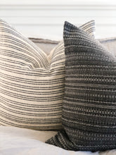 NAVY STRIPED PILLOW COVER
