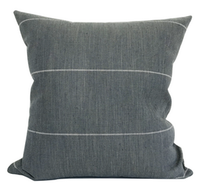 (PRE-ORDER) DARK BLUE STRIPED PILLOW COVER