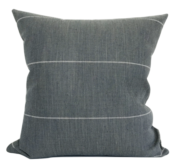 DARK BLUE STRIPED PILLOW COVER
