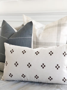 (PRE-ORDER) LINEN WINDOWPANE PILLOW COVER