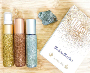 whimsy and wellness essential oil roller bottle spray modern metallics trio  singapore the oily blends