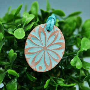 Essential Oil Clay Diffuser Necklace Mandala Kiln Fired Diffuser Singapore