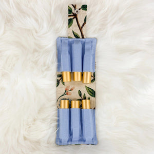 Honey Hive Five Roller Bottle Case Blue Floral Peonies - The Oily Blends