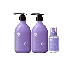 Luseta Biotin and Collagen Shampoo, Conditioner & Serum Bundle The Oily Blends Singapore