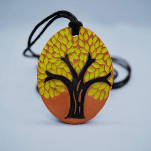 Tree of Life Diffuser Necklace (Green/Brown) - The Oily Blends