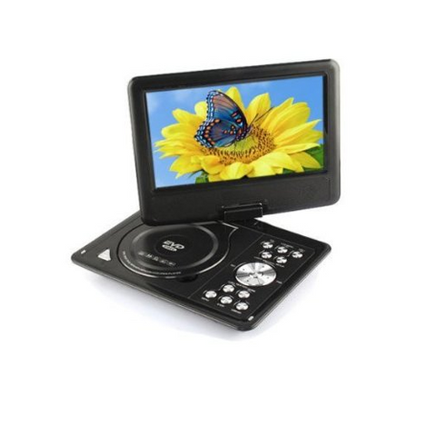 "9.8"" 3D Portable Rechargeable Evd/DVD Player with MP3 Videos, TV,Av,Gaming Player, AUX Out Slot"