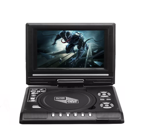 "7C51 7.8"" Portable CD DVD Player Game LCD Screen LCD 270 ° Rotation Car DVD Player"