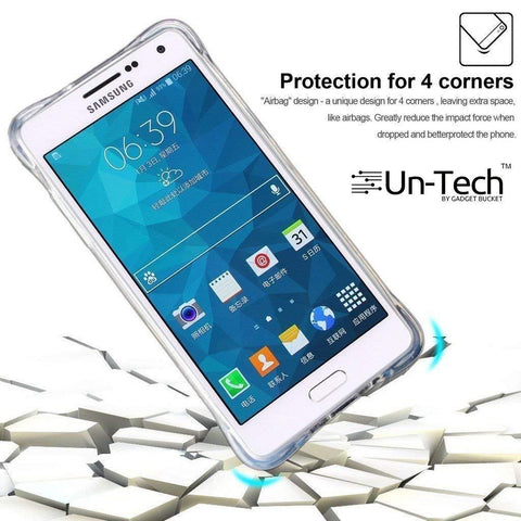 Samsung C9 Pro Transparent Mobile Phone Back Cover Case with TPU Corner Protection Phone Cover