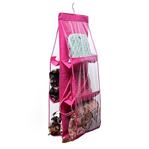 Pocket Hanging Storage Rack for Handbag Color May Vary