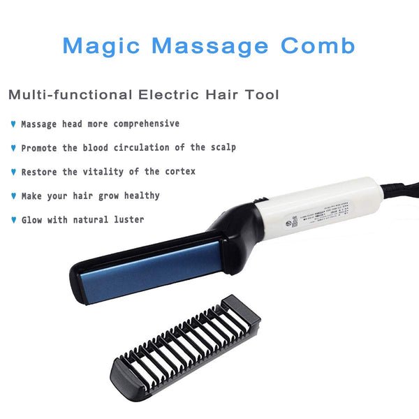 Quick Hair Styler for Men Electric Beard Straightener Massage Hair Comb Beard Care Comb Multifunctional Curly Hair Straightening Comb Curler For DIY Flexible Modeling