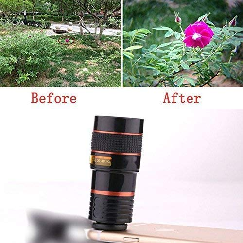 Telescope Camera Lens 8X Zoom Lens Telescope Clip-on Mobile Lens