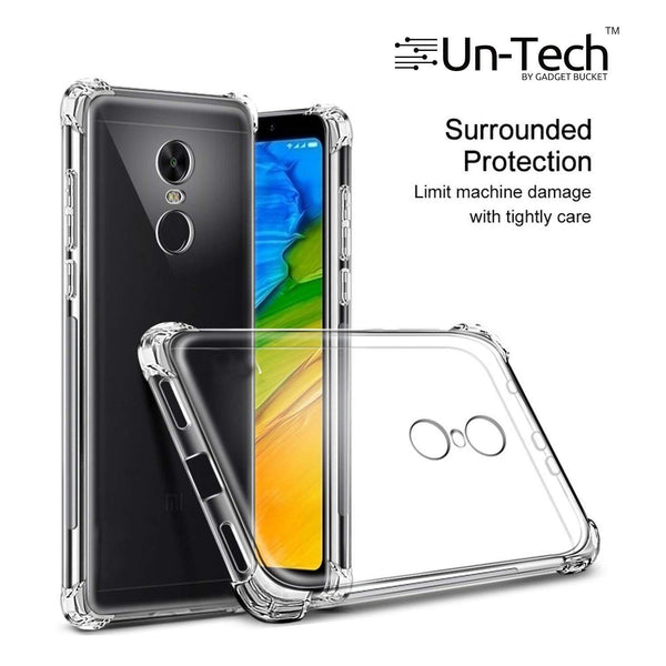 Redmi 5 Transparent Mobile Back Cover Case with TPU Corner Protection Phone Cases