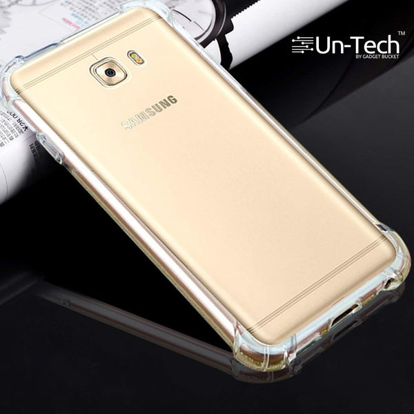 Samsung On 7 Pro Transparent Mobile Phone Back Cover Case with TPU Corner Protection Phone Cover