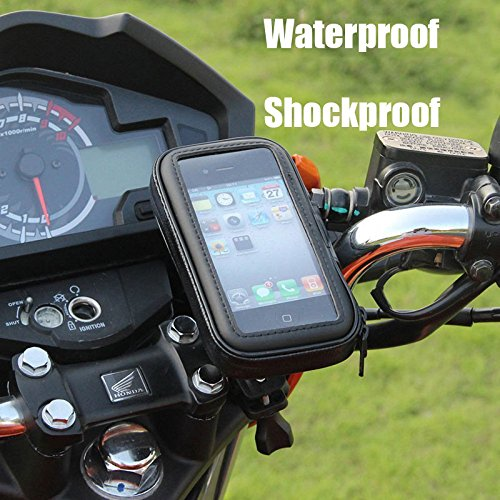 Universal Bike Bicycle Phone Holder Base Waterproof Case Cover Bag Handlebar Cycling Mount (Up to 6 Inch)