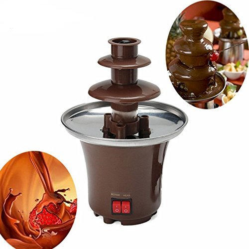 Mini Creative Design Chocolate Fountain for Melting Chocolate with Heating Fondue Machine