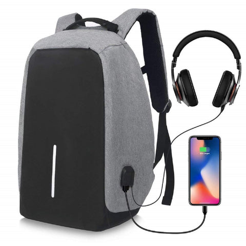 Anti Theft B2 Laptop Backpack with USB Charging Port Headphone Port Fit 14 Inch Laptop