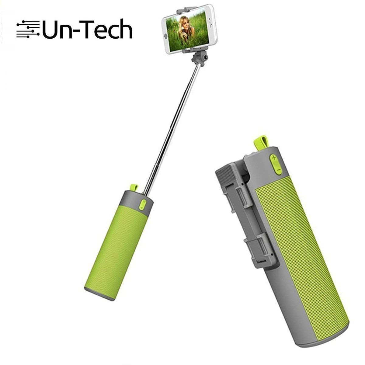 Selfie Stick with Wireless Speaker and Power Bank Mobile Holder Multicolour