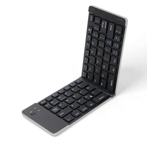 Foldable Bluetooth Keyboard Magnetic Close F66 with Mobile Stand