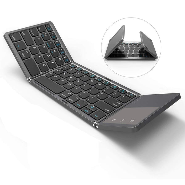 Bluetooth Keyboard with Touchpad for mobile Black