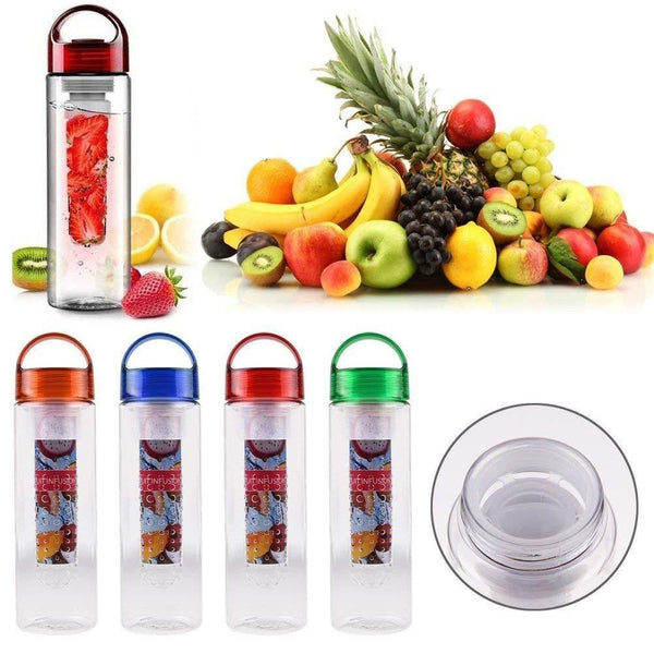 Water Bottle Natural Fruit Infuser for Yoga Gym Hiking Sports
