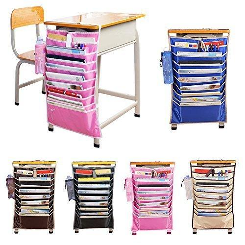 Adjustable Desk-Side Hanging Book Organizer Bag Multicolor Only Hanging Organiser