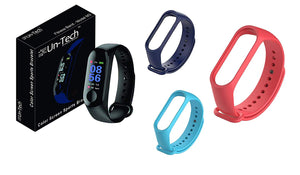 Fitness M3 Wristband Activity Tracker for Android iOS Black Band Belts Navy Blue  Red  SkyBlue