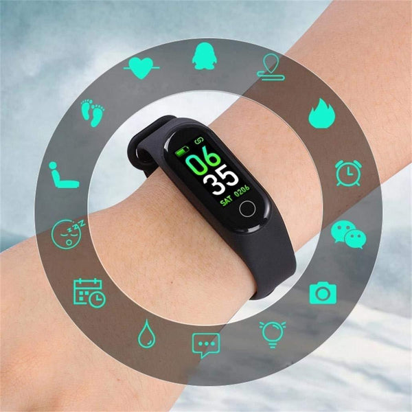 M3 Band Activity Tracker Heart Rate Blood Pressure Monitor OLED Display