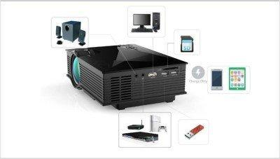 Portable Projector with USB and Inbuilt Speakers UC-28 Mini Projector