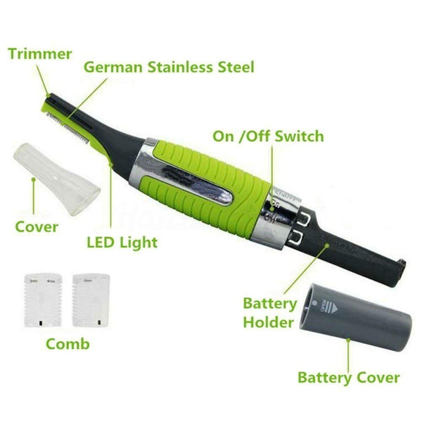 All In One Personal Cordless Touches Nose hair Trimmer With Built In Led Light