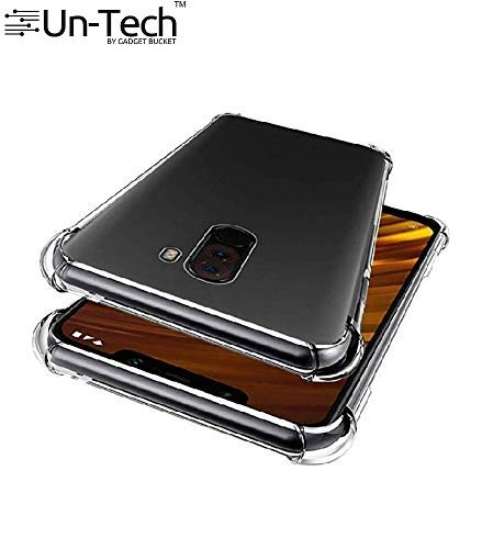 Poco F1 Transparent Mobile Phone Back Cover Case with TPU Corner