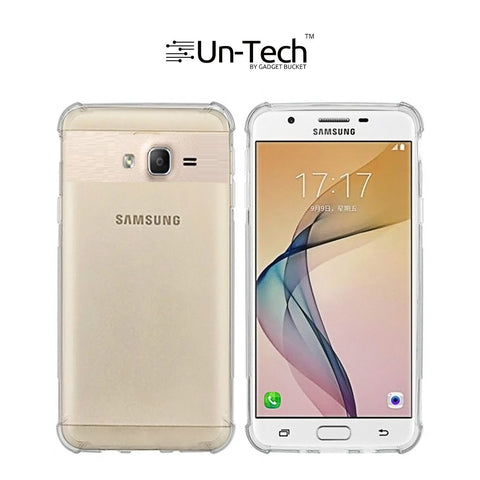 Samsung On 5 Pro Transparent Mobile Phone Back Cover Case with TPU Corner Phone Cover