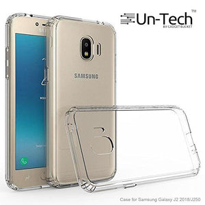 Samsung J2 Transparent Mobile Phone Back Cover Case with TPU Corner