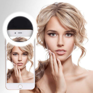 Selfie Beauty LED Ring Light for Tablets SmartphonesMulti Color