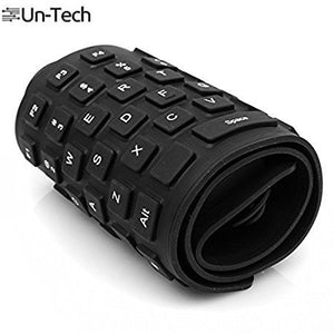 Flexible Silicon USB Keyboard Foldable Waterproof Wired USB Keyboard Black
