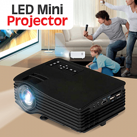 Mini LED Portable Projector Full Hd Color 130-inch Screen Support Home Theater Projector UC36 w/ HDMI AV USB