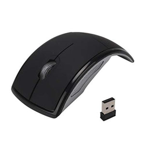 Wireless Arc Style Foldable Optical Mouse for Laptop Notebook PC 2.4GHz