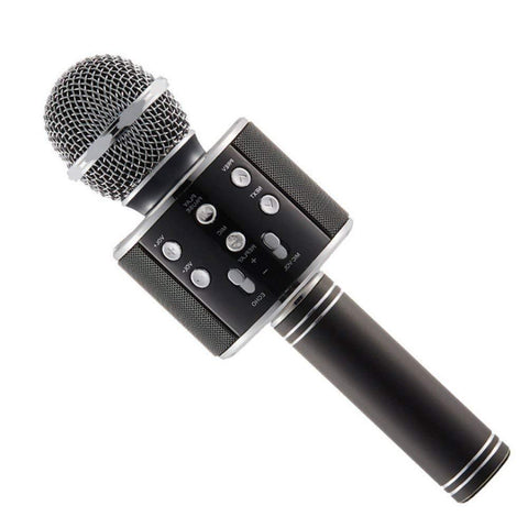 Wireless Karaoke Mic Bluetooth Microphone Recording Condenser Handheld WS 858 Color May Vary