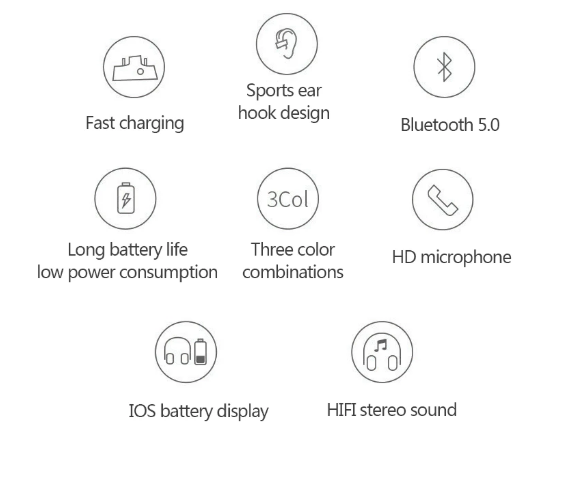 UnTech Wireless Bluetooth Earphone 5.0 Plug Type Sports Bluetooth Headphone with Charging Bay Noise Cancelling