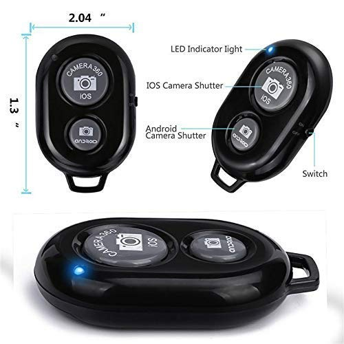 Wireless Bluetooth Remote Shutter Controller for Any iOS & Android Smartphone(Random Colour)
