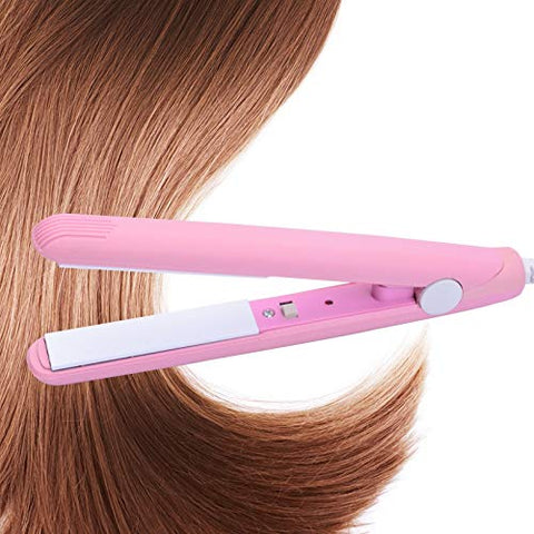 Women Beauty Mini Professional Hair Straighteners Temperature Control Flat Iron 45W Metal Multi Color (Pink)