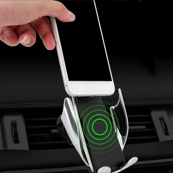 S5 Smart Sensor Automatic Car Mobile Wireless Charger Charging Bracket Vertical 360 ° Rotation Holder 2 in 1