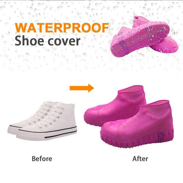 Un-Tech Waterproof & Rainproof Non Sleep Reusable Water Sand Rain Protective Silicone Shoe Cover-fit shoe size upto 4-Multi Color Will Ship