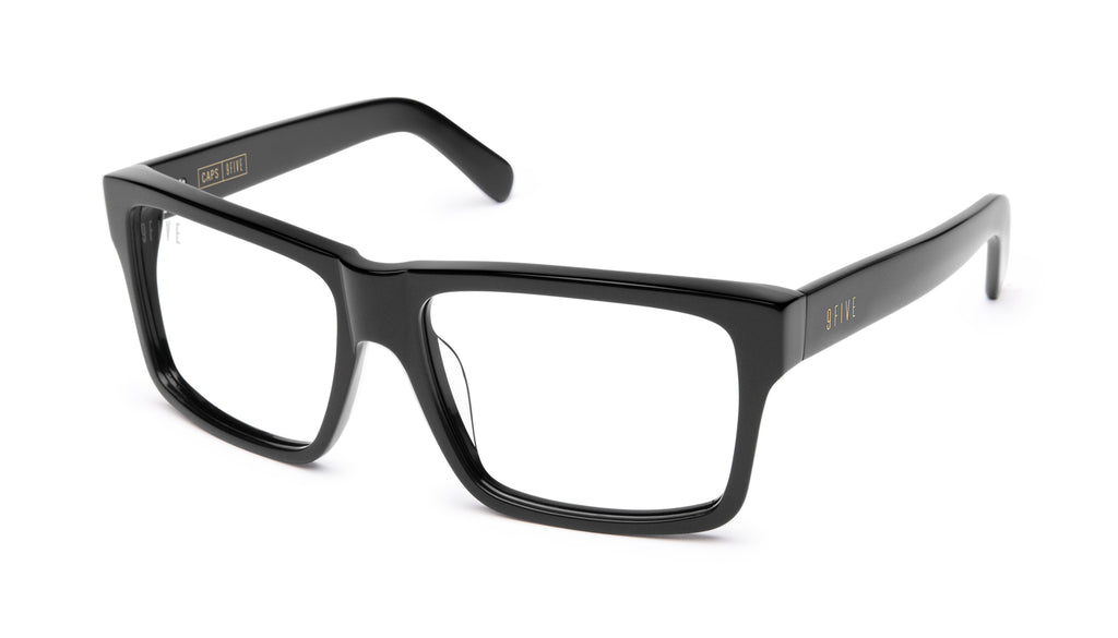 9FIVE Caps Matte Blackout Clear Lens Glasses