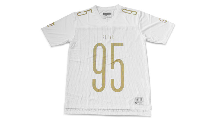 9FIVE Men's Football Jersey - White & Gold