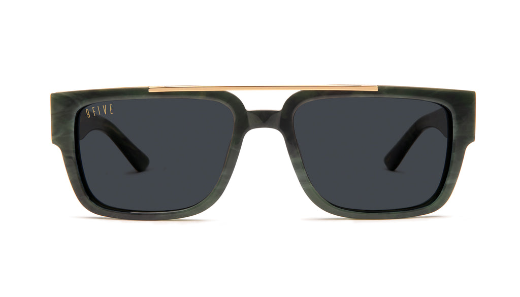 9FIVE 24 Jade Stone & 24k Gold Sunglasses