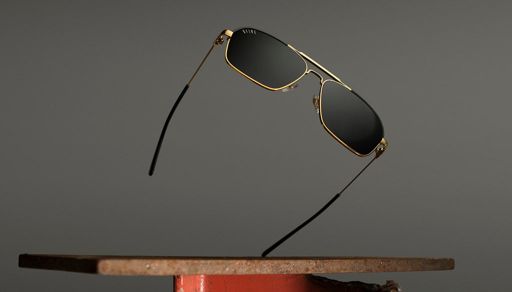 9FIVE AVIAN 24K Gold Sunglasses