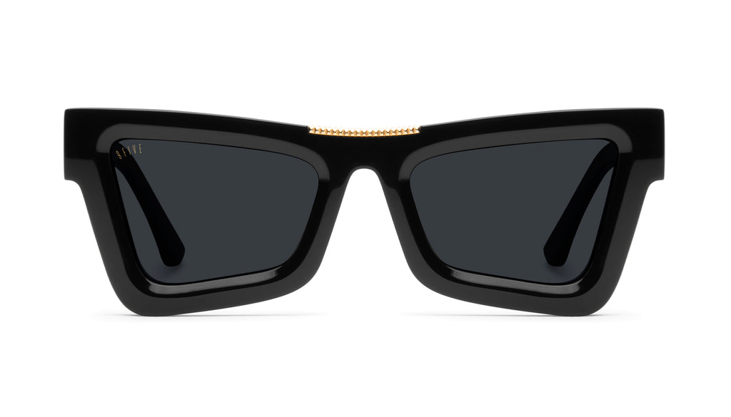 9FIVE Marauder Black & 24k Gold Clear Lens Glasses Rx